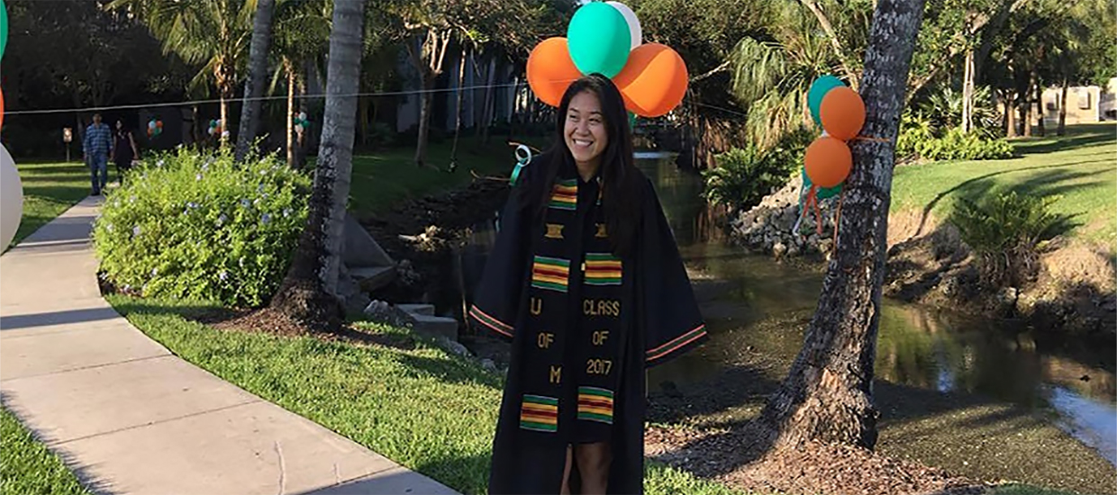 Crystal Lam, co-founder of First Generation U, celebrates her time at The U and her new graduate school journey!