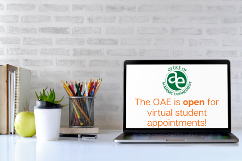 The OAE is open for virtual student appointments.